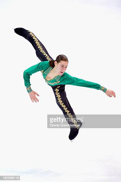 Jason Brown of the United States competes in the Men Free Skating competition during day three of the ISU Nebelhorn Trophy at Eissportzentrum...