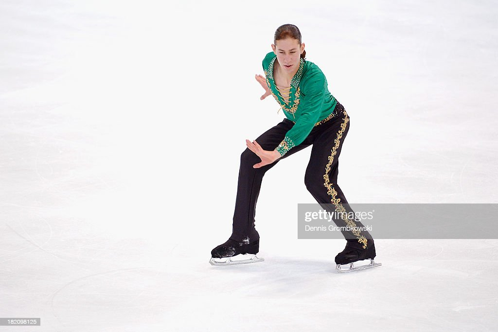 Jason Brown of the United States competes in the Men Free Skating competition during day three of the ISU Nebelhorn Trophy at Eissportzentrum Oberstdorf on September 28, 2013 in Oberstdorf, Germany.