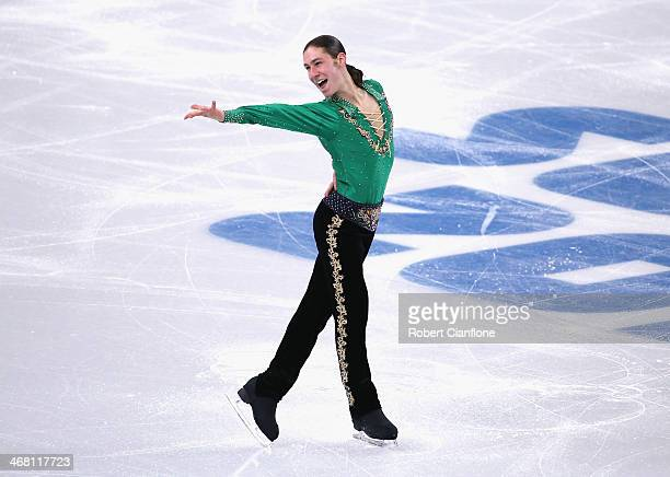 Jason Brown of the United States competes in the Men's Figure Skating Men's Free Skate during day 2 of the Sochi 2014 Winter Olympics at Iceberg...