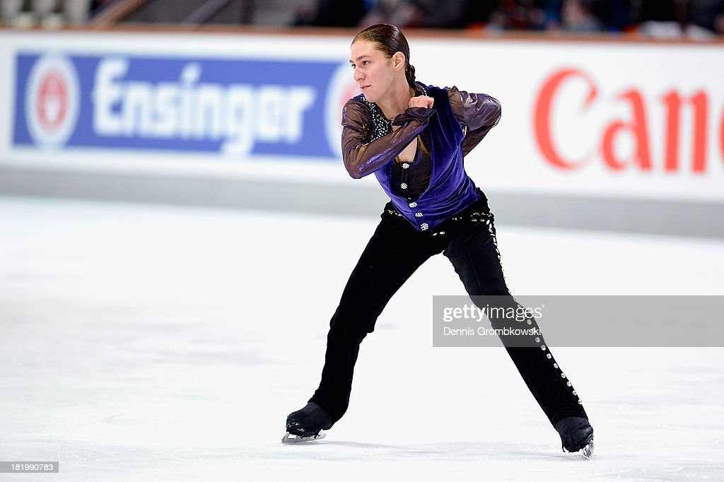 <a gi-track='captionPersonalityLinkClicked' href=/galleries/search?phrase=Jason+Brown+-+Figure+Skater&family=editorial&specificpeople=12450686 ng-click='$event.stopPropagation()'>Jason Brown</a> of the United States competes in the Men's Short Program during day two of the ISU Nebelhorn Trophy at Eissportzentrum Oberstdorf on September 27, 2013 in Oberstdorf, Germany.