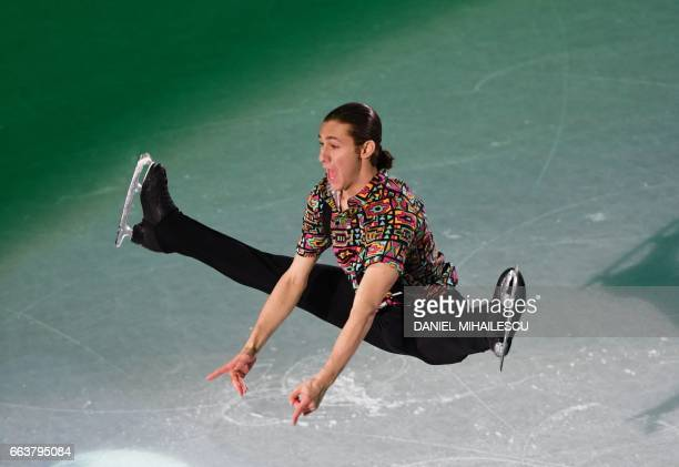 TOPSHOT Jason Brown of the United States performs during the Gala show at the end of ISU World Figure Skating Championships 2017 in Helsinki Finland...