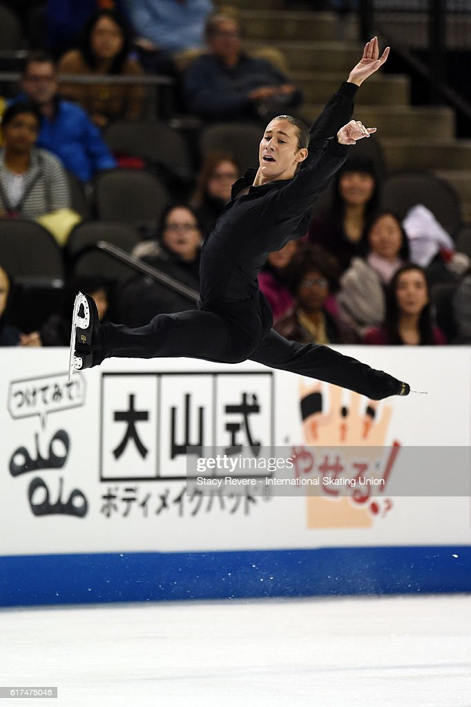 Jason Brown of the United States performs during the Men's Long Program on day 3 of the Grand Prix of Figure Skating at the Sears Centre Arena on October 23, 2016 in Chicago, Illinois.