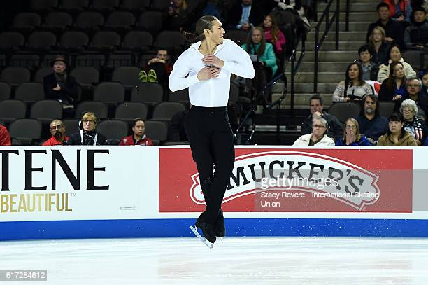 Jason Brown of the United States performs during the Men's Short Program on day 2 of the Grand Prix of Skating at the Sears Centre Arena on October...