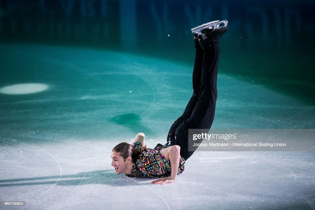 Jason Brown of the United States performs in the gala exhibition during day five of the World Figure Skating Championships at Hartwall Arena on April 2, 2017 in Helsinki, Finland.