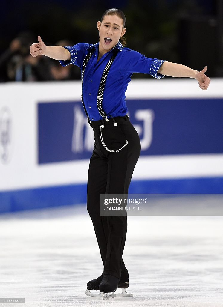 <a gi-track='captionPersonalityLinkClicked' href=/galleries/search?phrase=Jason+Brown+-+Figure+Skater&family=editorial&specificpeople=12450686 ng-click='$event.stopPropagation()'>Jason Brown</a> of the US performs during the men's short program of the 2015 ISU World Figure Skating Championships at Shanghai Oriental Sports Center in Shanghai, on March 27, 2015.
