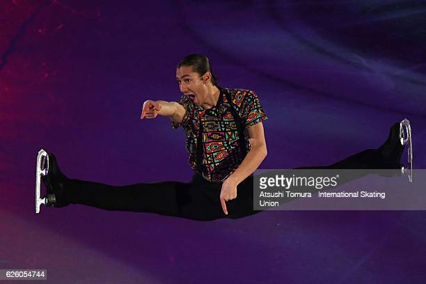 Jason Brown of the USA performs in the gala exhibition during the ISU Grand Prix of Figure Skating NHK Trophy on November 27 2016 in Sapporo Japan