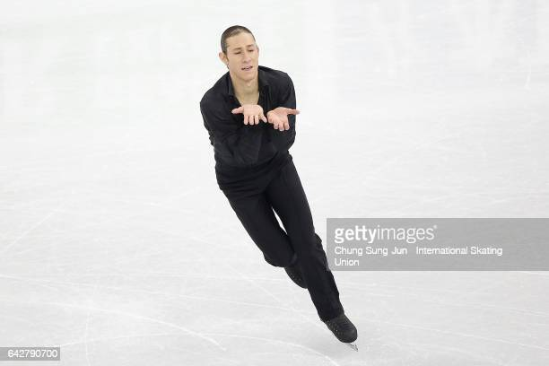 Jason Brown of United States competes in the Men free skating during ISU Four Continents Figure Skating Championships Gangneung Test Event For...