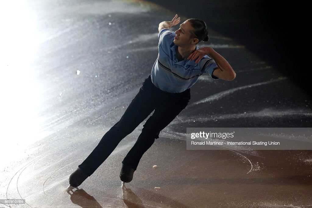 Jason Brown of USA performs in the exhibition gala during the ISU Grand Prix of Figure Skating at Brandt Centre on October 29, 2017 in Regina, Canada.