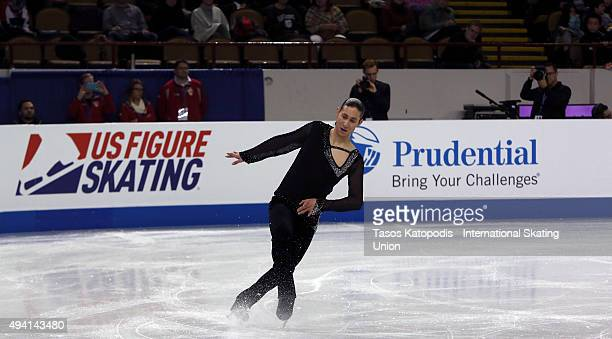 Jason Brown of USA performs in the mens free skate in October 24 2015 in Milwaukee Wisconsin