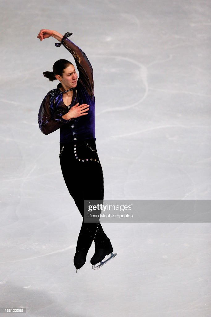 <a gi-track='captionPersonalityLinkClicked' href=/galleries/search?phrase=Jason+Brown+-+Figure+Skater&family=editorial&specificpeople=12450686 ng-click='$event.stopPropagation()'>Jason Brown</a> of USA performs in the Mens Short Program during day one of Trophee Eric Bompard ISU Grand Prix of Figure Skating 2013/2014 at the Palais Omnisports de Bercy on November 15, 2013 in Paris, France.