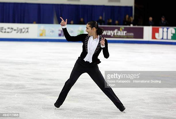 Jason Brown of USA skates in the mens short program on October 23 2015 in Milwaukee Wisconsin