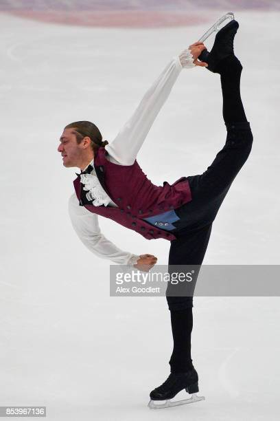 Jason Brown performs for a crowd during the Team USA Media Summit demo event on September 25 2017 in Park City Utah
