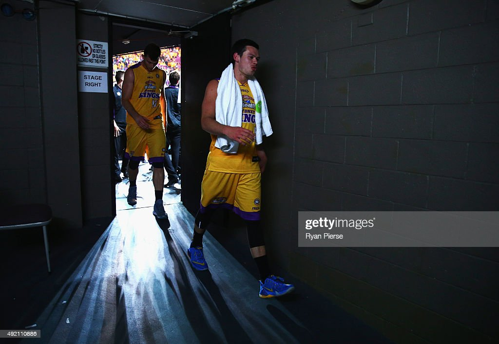 Jason Cadee of the Kings walks from the court after the round one NBL match between the Sydney Kings and the Cairns Taipans at Qantas Credit Union Arena on October 10, 2015 in Sydney, Australia.