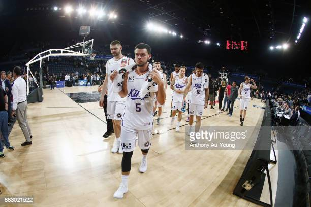 Jason Cadee of the Kings walks off the court after losing the round three NBL match between the New Zealand Breakers and the Sydney Kings at Spark...