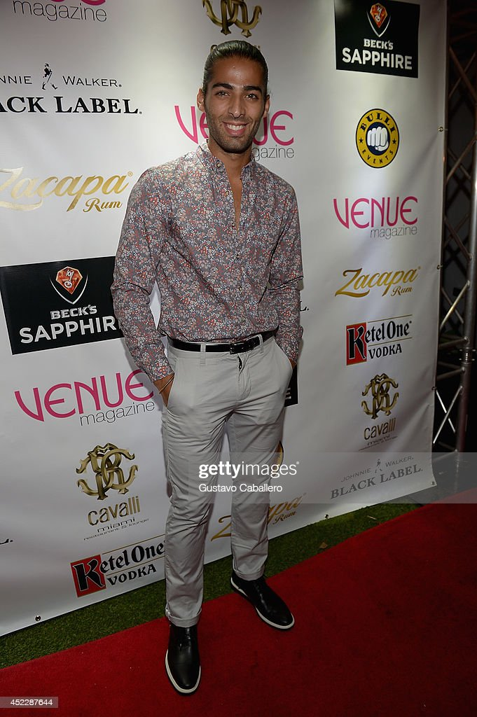 Jason Canela arrives at Cavalli Miami on July 16, 2014 in Miami Beach, Florida.