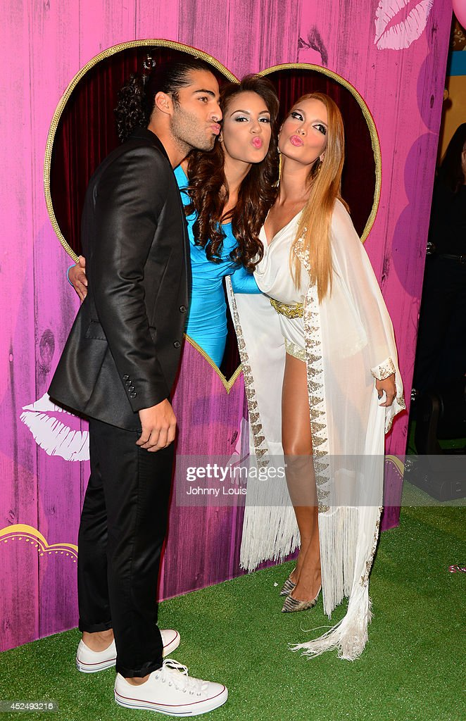 Jason Canela, Nabila Tapia and <a gi-track='captionPersonalityLinkClicked' href=/galleries/search?phrase=Zuleyka+Rivera&family=editorial&specificpeople=3957995 ng-click='$event.stopPropagation()'>Zuleyka Rivera</a> attend the Premios Juventud 2014 Awards at Bank United Center on July 17, 2014 in Miami, Florida.
