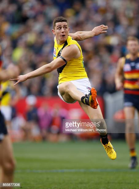 Jason Castagna of the Tigers in action during the 2017 Toyota AFL Grand Final match between the Adelaide Crows and the Richmond Tigers at the...