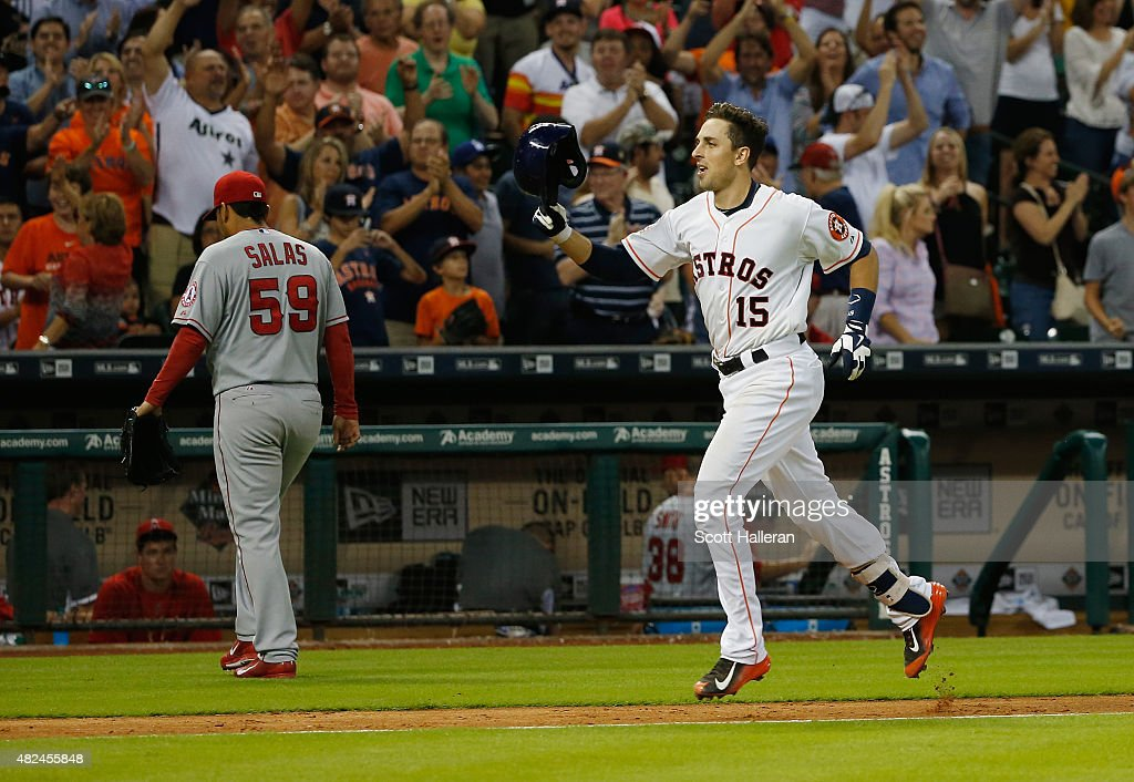 Jason Castro 15 Of The Houston Astros Trots Home After Hitting A Three Run