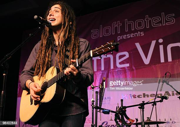 Jason Castro performs at Aloft Hotels Presents Live in the Vineyard on April 11 2010 in Napa California