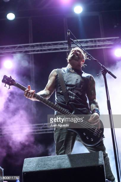 Jason Christopher of Ministry performs on stage at the Download Festival on June 24 2017 in Madrid Spain