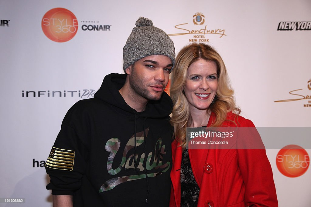 Jason Christopher Peters and <a gi-track='captionPersonalityLinkClicked' href=/galleries/search?phrase=Alex+McCord&family=editorial&specificpeople=4697416 ng-click='$event.stopPropagation()'>Alex McCord</a> attend the Ashton Michael Fashion Show At CONAIR STYLE360 at STYLE360 presented by Conair Fashion Pavilion on February 12, 2013 in New York City.