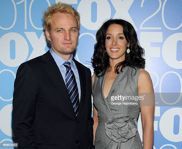 Jason Clarke and Jennifer Beals attend the 2010 FOX UpFront after party at Wollman Rink Central Park on May 17 2010 in New York City