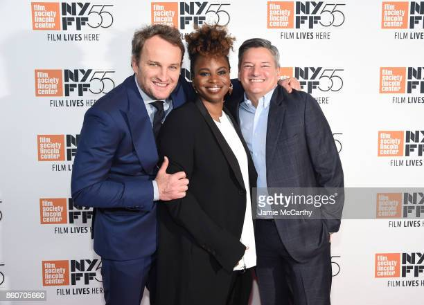 Jason Clarke Director Dee Rees and Ted Sarandos attend the 'Mudbound' premiere during the 55th New York Film Festival at Alice Tully Hall on October...