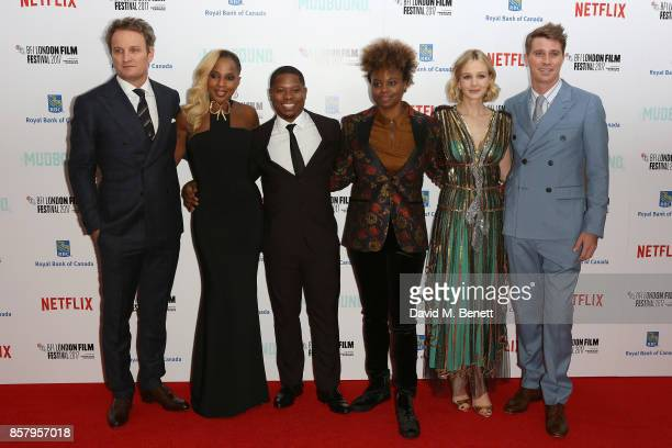 Jason Clarke Mary J Blige Jason Mitchell Dee Rees Carey Mulligan and Garrett Hedlund attend the Royal Bank of Canada Gala European Premiere of...