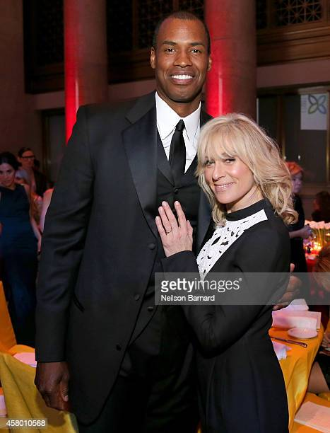 Jason Collins and Judith Light attend the Elton John AIDS Foundation's 13th Annual An Enduring Vision Benefit at Cipriani Wall Street powered by...