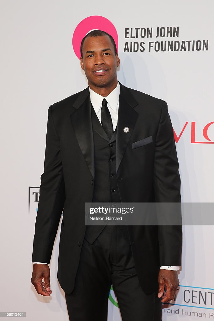Jason Collins attends the Elton John AIDS Foundation's 13th Annual An Enduring Vision Benefit at Cipriani Wall Street powered by CIROC Vodka on...