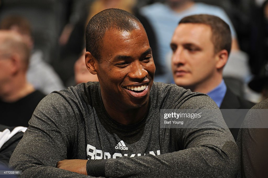 <a gi-track='captionPersonalityLinkClicked' href=/galleries/search?phrase=Jason+Collins+-+Basketball+Player&family=editorial&specificpeople=201926 ng-click='$event.stopPropagation()'>Jason Collins</a> #98 of the Brooklyn Nets during a game against the Denver Nuggets on February 27, 2014 at the Pepsi Center in Denver, Colorado.