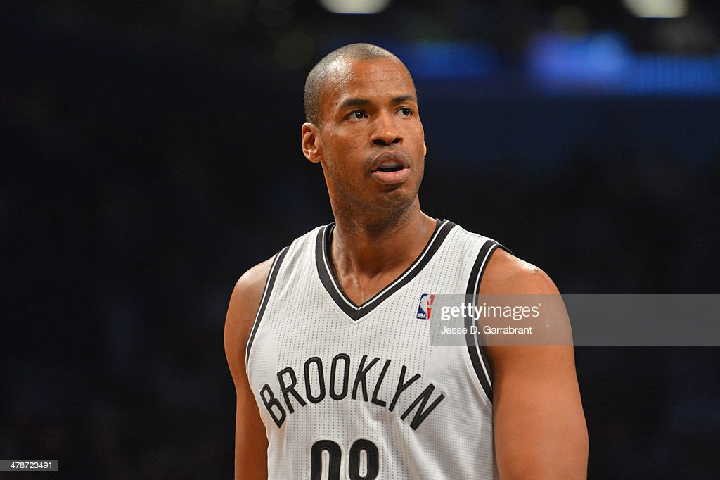 <a gi-track='captionPersonalityLinkClicked' href=/galleries/search?phrase=Jason+Collins+-+Basketball+Player&family=editorial&specificpeople=201926 ng-click='$event.stopPropagation()'>Jason Collins</a> #98 of the Brooklyn Nets during a game against the Toronto Raptors on March 10, 2014 at the Barclays Center in Brooklyn, New York.