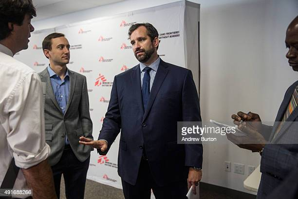 Jason Cone executive director of Doctors without Borders / Medecins Sans Frontieres speaks to reporters at a press conference calling for an...