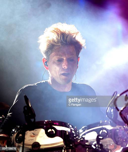 Jason Cooper of The Cure performs at Shoreline Amphitheatre on May 26 2016 in Mountain View California