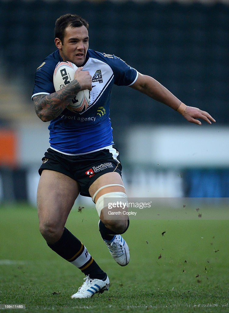 Jason Crookes of Hull FC in action during a pre-season friendly match between Hull FC and Castleford Tigers at The KC Stadium on January 13, 2013 in Hull, England.
