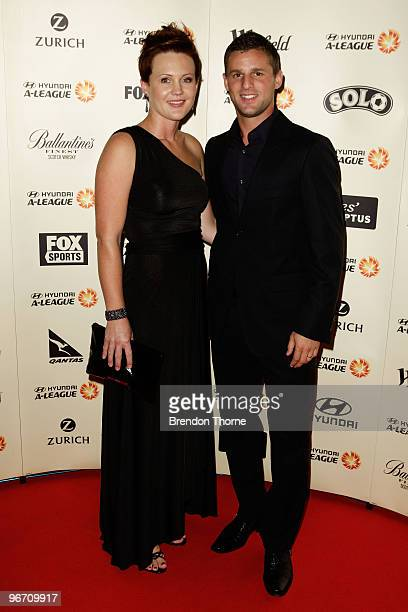 Jason Culina and Terry Culina arrive for the 2010 ALeague Awards at The Ivy on February 15 2010 in Sydney Australia