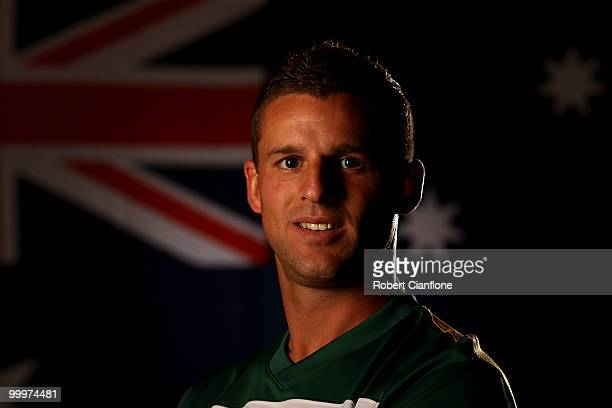 Jason Culina of Australia poses for a portrait during an Australian Socceroos portrait session at Park Hyatt Hotel on May 19 2010 in Melbourne...