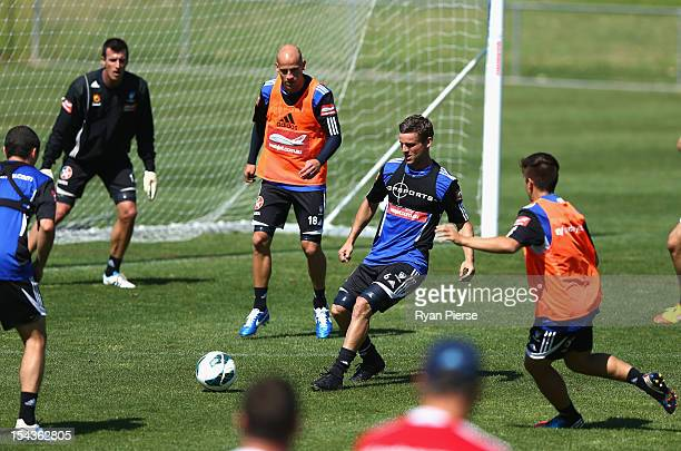 Jason Culina of Sydney FC trains during a Sydney FC Training Session at Macquarie Uni on October 19 2012 in Sydney Australia