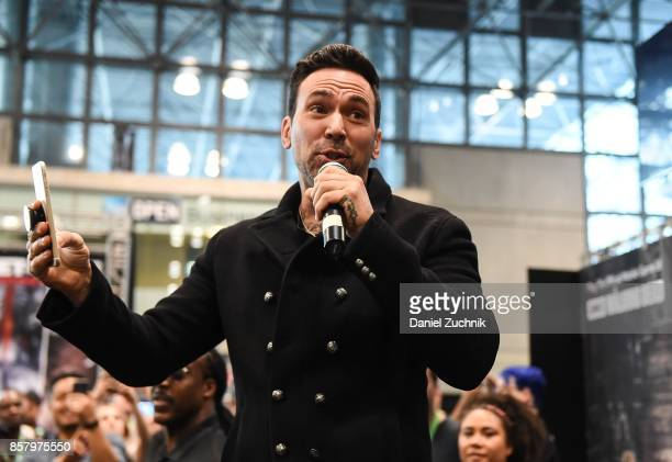 Jason David Frank of the Mighty Morphin Power Rangers attends the Saban's Power Rangers Legacy Wars tournament at New York Comic Con 2017 Day 1 on...