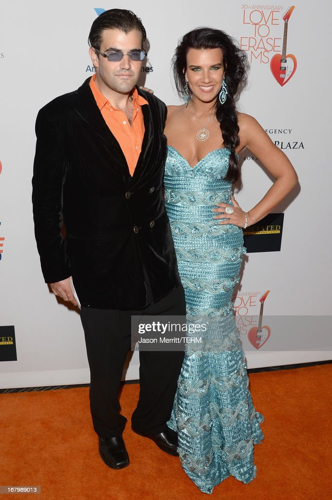 Jason Davis and Guest attend the 20th Annual Race To Erase MS Gala 'Love To Erase MS' at the Hyatt Regency Century Plaza on May 3, 2013 in Century City, California.