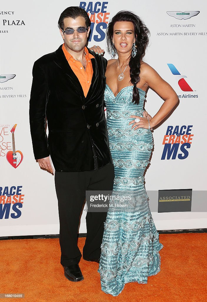 Jason Davis (L) and his guest attend the 20th Annual Race to Erase MS Gala 'Love to Erase MS' at the Hyatt Regency Century Plaza on May 3, 2013 in Century City, California.