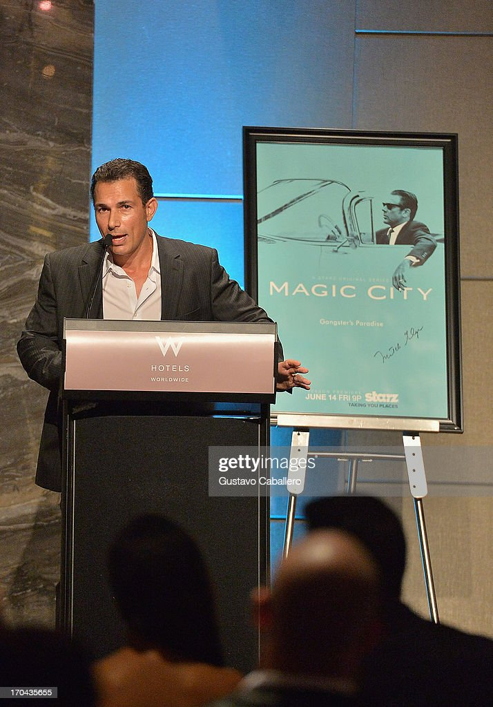 Jason Davis attends the 'Magic City' preview screening at W South Beach on June 12, 2013 in Miami Beach, Florida.
