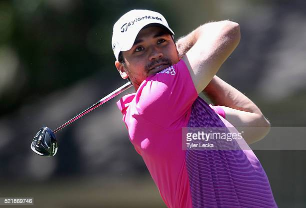 Jason Day hits a tee shot on the eighth hole during the final round of the 2016 RBC Heritage at Harbour Town Golf Links on April 17 2016 in Hilton...