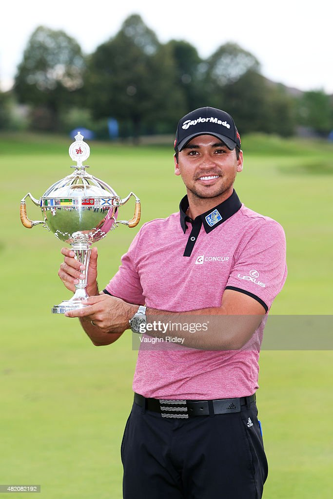 <a gi-track='captionPersonalityLinkClicked' href=/galleries/search?phrase=Jason+Day+-+Golfer&family=editorial&specificpeople=4534484 ng-click='$event.stopPropagation()'>Jason Day</a> of Australia celebrates with the winner's trophy after the final round of the RBC Canadian Open at Glen Abbey Golf Club on July 26, 2015 in Oakville, Canada.
