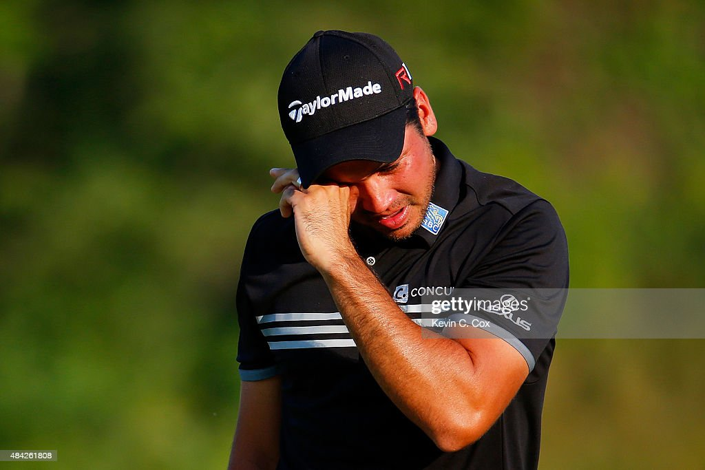 <a gi-track='captionPersonalityLinkClicked' href=/galleries/search?phrase=Jason+Day+-+Golfer&family=editorial&specificpeople=4534484 ng-click='$event.stopPropagation()'>Jason Day</a> of Australia cries on the 18th green after winning the 2015 PGA Championship with a score of 20-under par at Whistling Straits on August 16, 2015 in Sheboygan, Wisconsin.