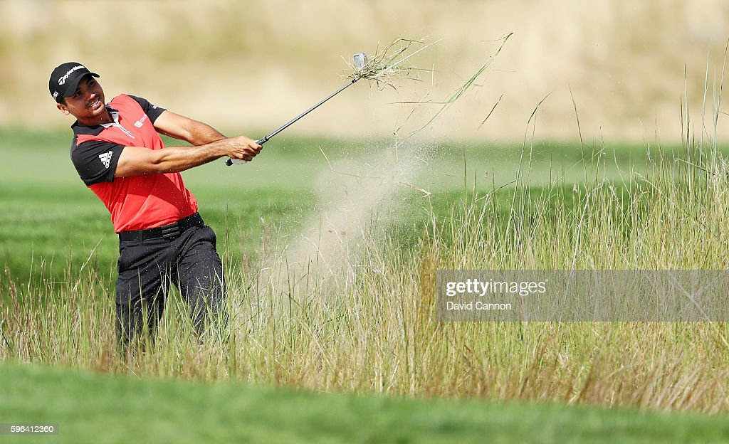 Jason Day of Australia hits a shot on the 11th hole during the third round of The Barclays in the PGA Tour FedExCup Play-Offs on the Black Course at Bethpage State Park on August 27, 2016 in Farmingdale, New York.