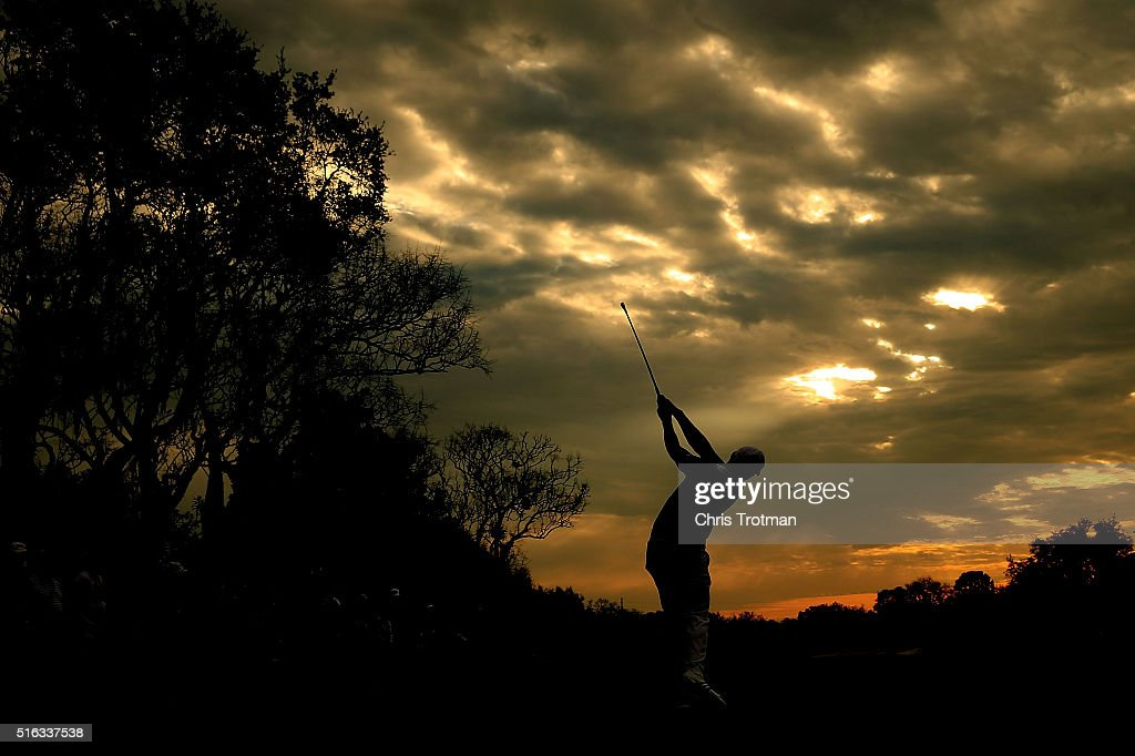Jason Day of Australia hits his tee shot on the 11th hole during the second round of the Arnold Palmer Invitational Presented by MasterCard at Bay Hill Club and Lodge on March 18, 2016 in Orlando, Florida.
