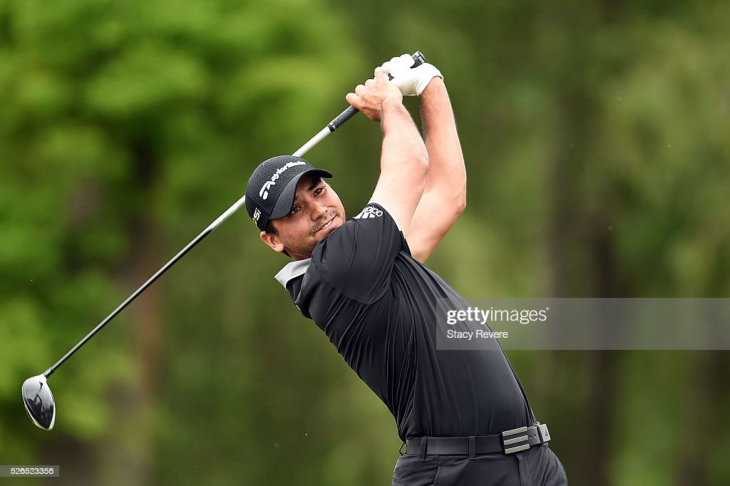 Jason Day of Australia hits his tee shot on the 15th hole during a continuation of the second round of the Zurich Classic at TPC Louisiana on April 30, 2016 in Avondale, Louisiana.