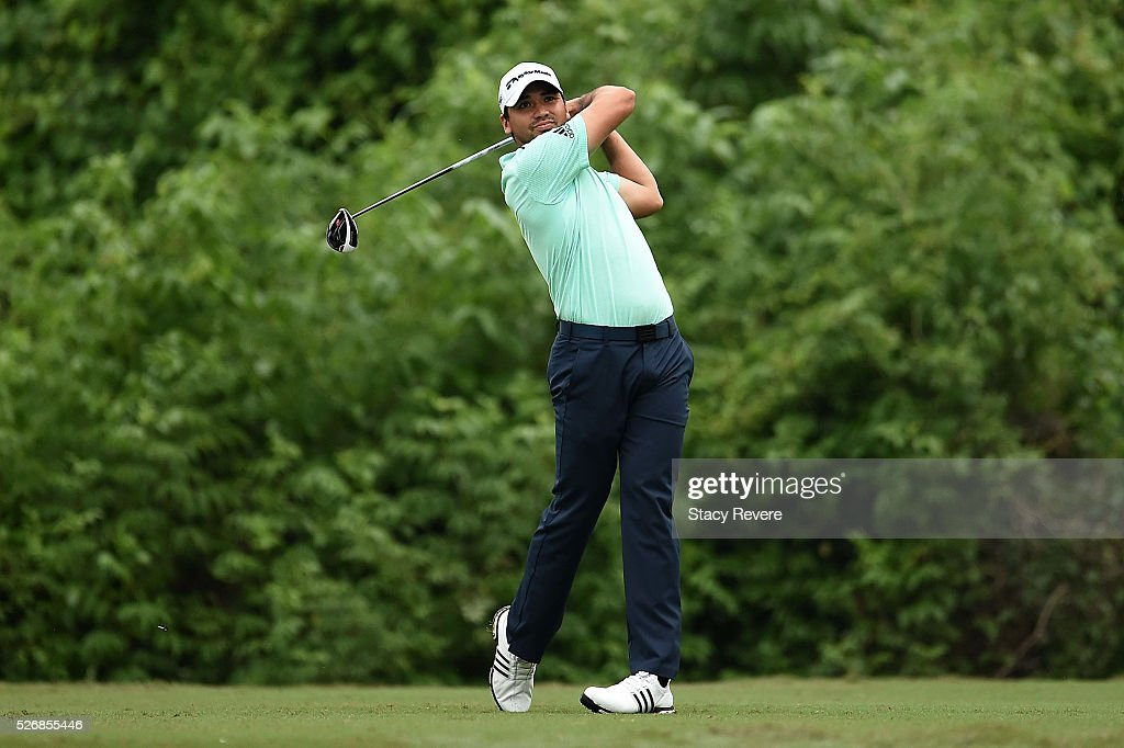 Jason Day of Australia hits his tee shot on the second hole during a continuation of the third round of the Zurich Classic at TPC Louisiana on May 1, 2016 in Avondale, Louisiana.