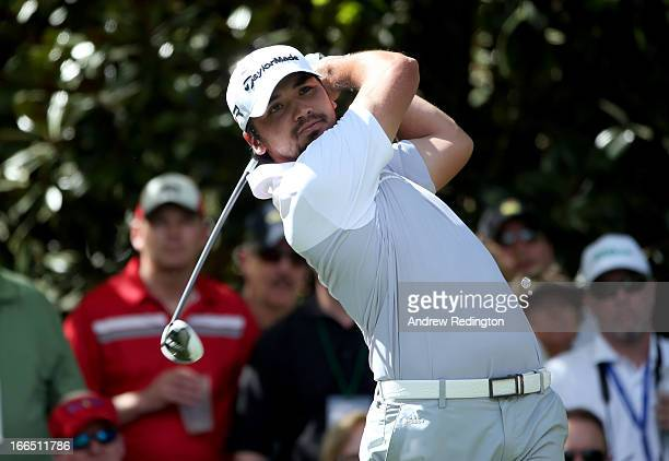 Jason Day of Australia hits his tee shot on the seventh hole during the third round of the 2013 Masters Tournament at Augusta National Golf Club on...